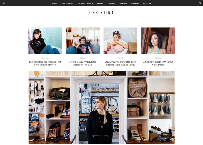 Christina - Fashion & Lifestyle Responsive Magazine Theme