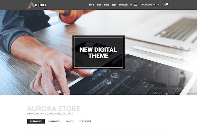 aurora-multipurpose-electronics-media-market-creative-clean-woocommerce-shop