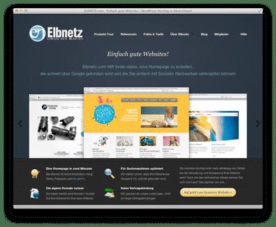 Elbnetz 1.0 - Das erste Webdesign
