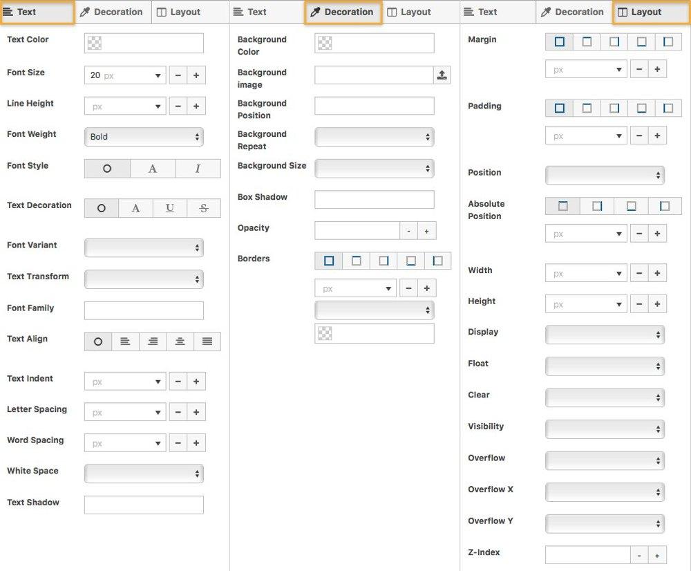 Anpassungsmoeglichkeiten in SiteOrigin CSS