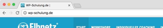 Die Adresszeile im Chrome