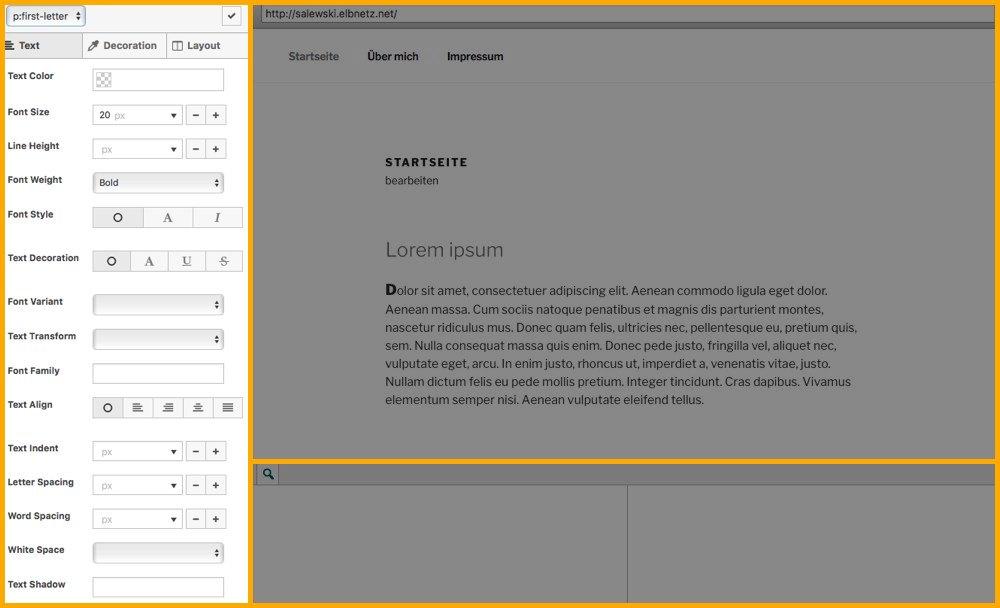 SiteOrigin CSS Seitenleiste