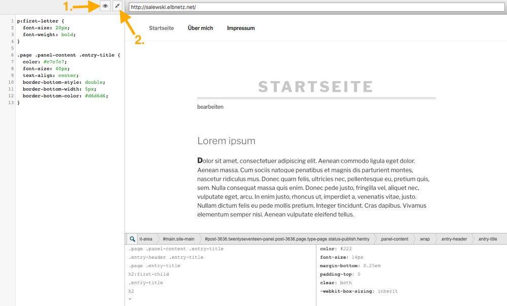 SiteOrigin CSS erweiterter Modus