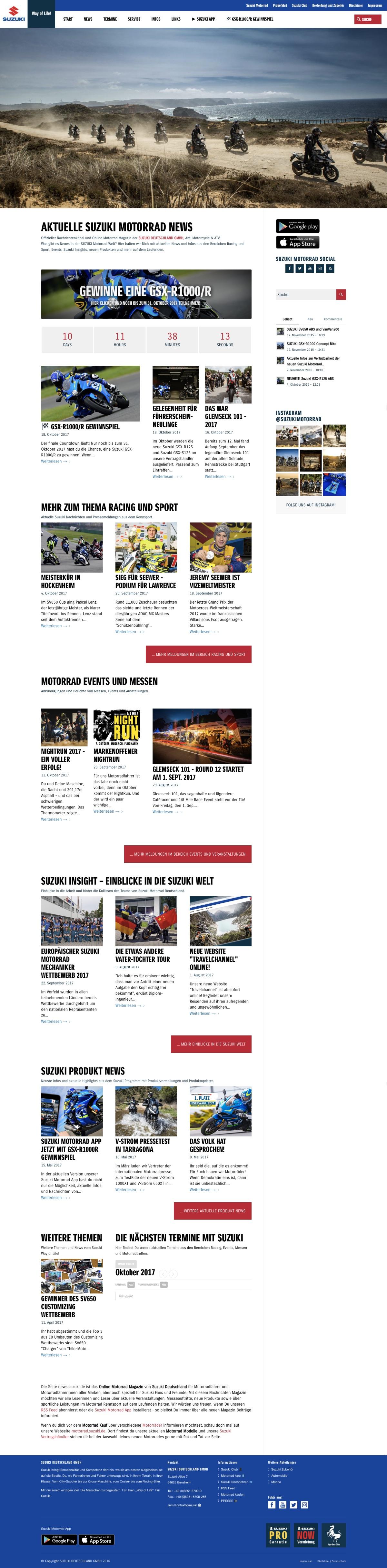 Website Suzuki Motorrad News