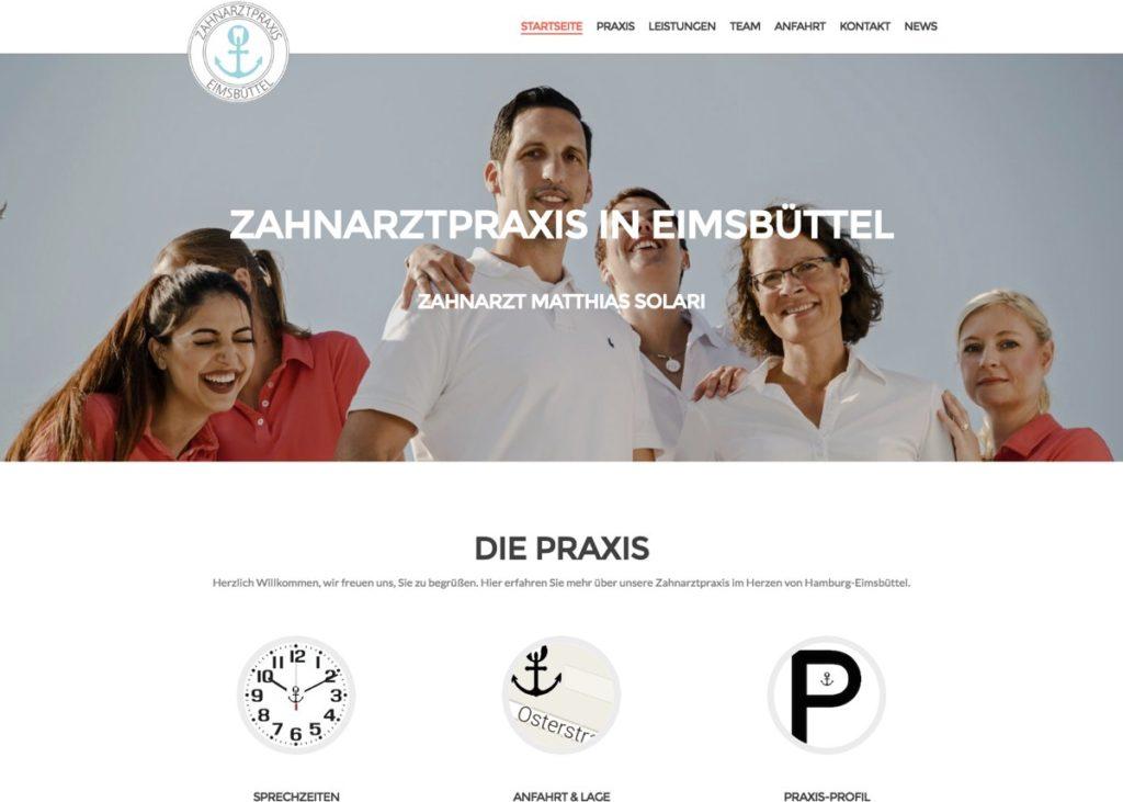 Zahnarztpraxis in Eimsbuettel - Startseite