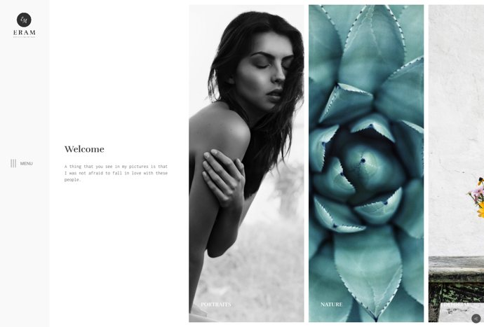 Eram - Innovative Photography Portfolio Theme