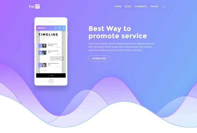 ForIT – StartUp WordPress theme for Software, App and Product