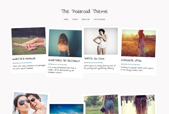 Polaroid - Unique Personal Blog Theme for WordPress