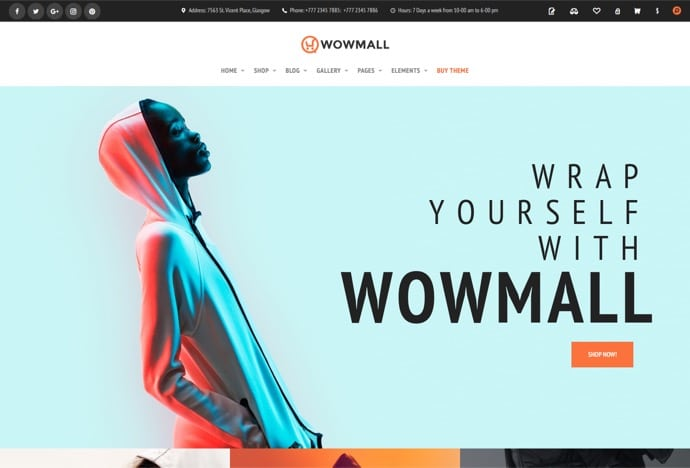 WOWmall - fastest WordPress WooCommerce theme