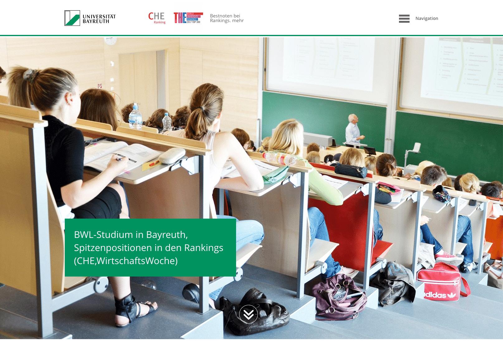 Studieren an der Uni Bayreuth