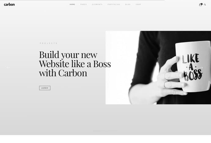 Carbon - Clean Minimal Multipurpose WordPress Theme