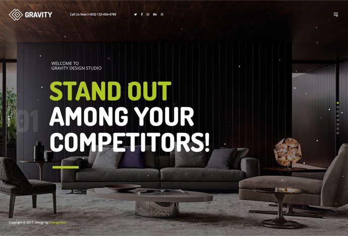 Gravity - Creative Agency & Presentation Theme