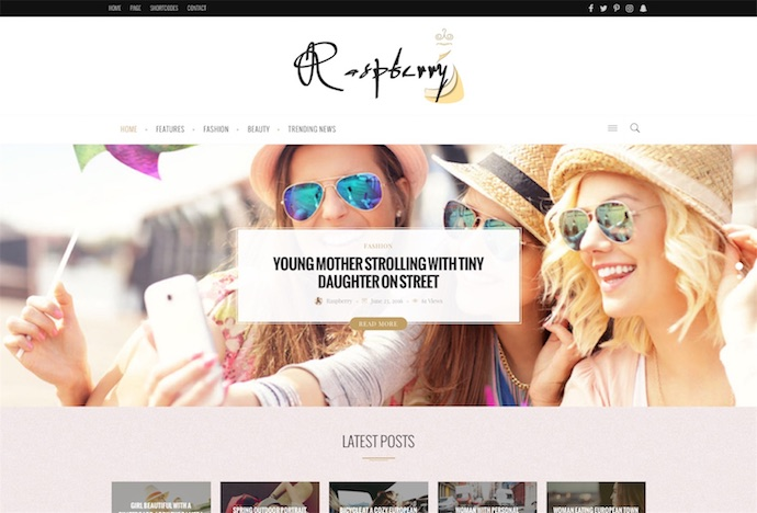 Raspberry - A Fashionable News, Magazine & Blog WordPress Theme