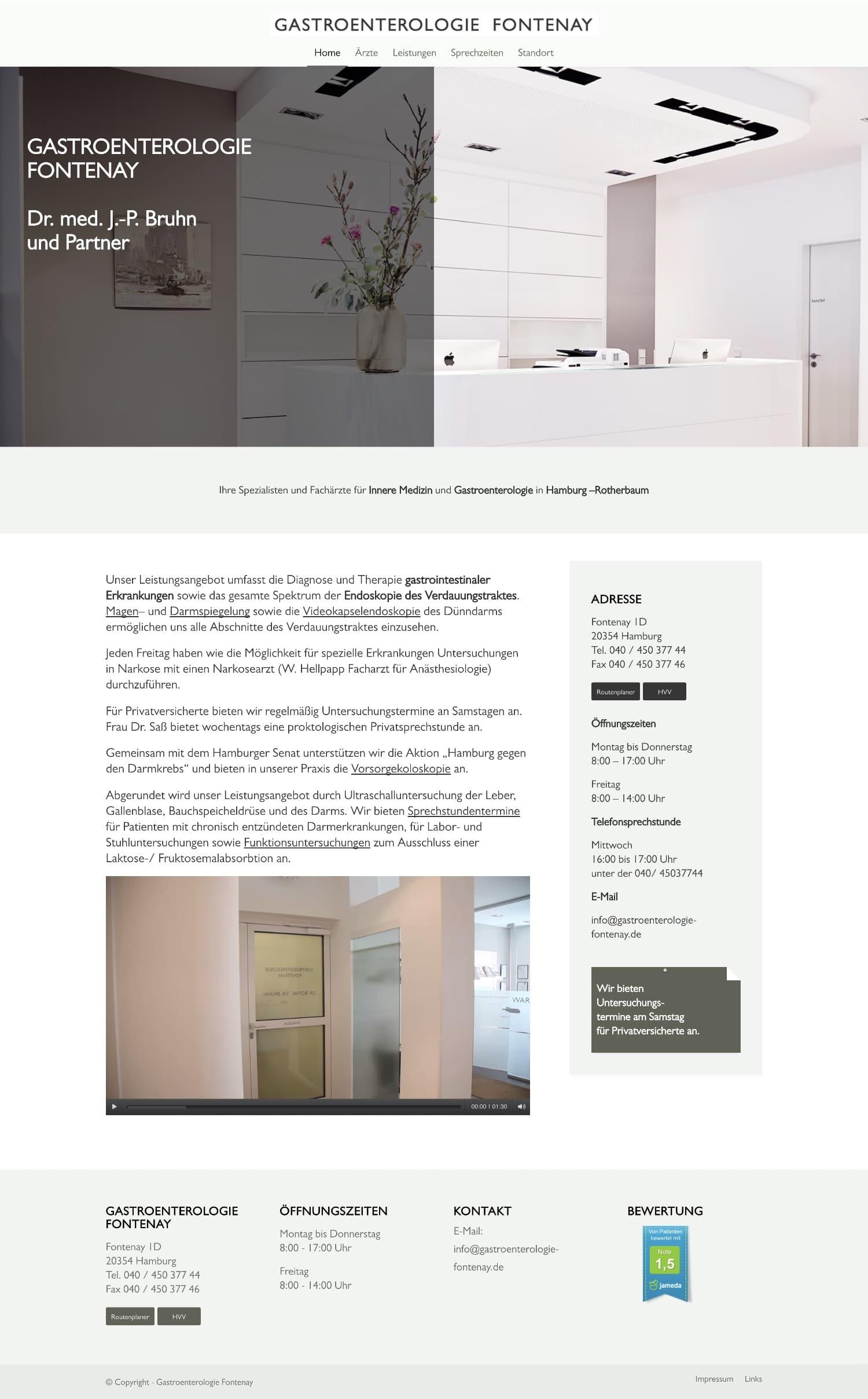 Website Gastroentologie Fontenay