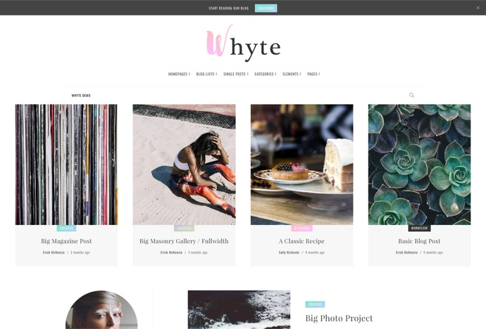 Whyte - Creative WP Theme