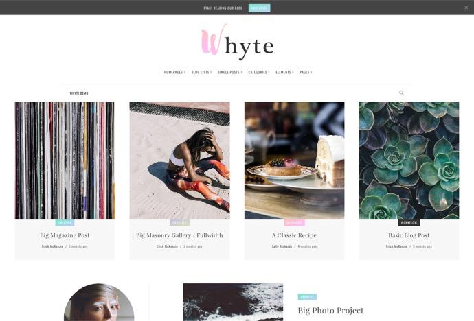 Whyte - Creative WP Theme