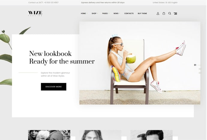 WooCommerce Multipurpose Responsive WordPress Theme - WizeStore by GT3themes