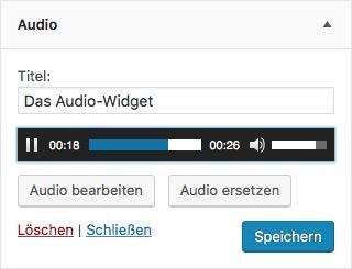 Das WordPress Audio-Widget
