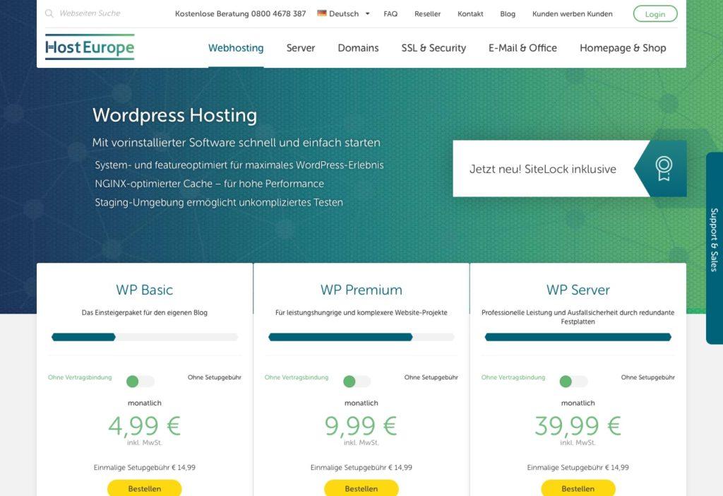 Vorinstalliertes WordPress-Hosting