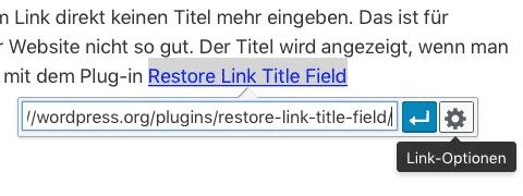 Link-Optionen