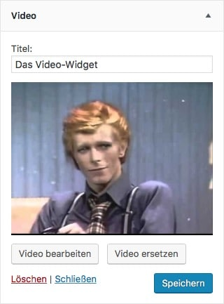 Das WordPress Video-Widget
