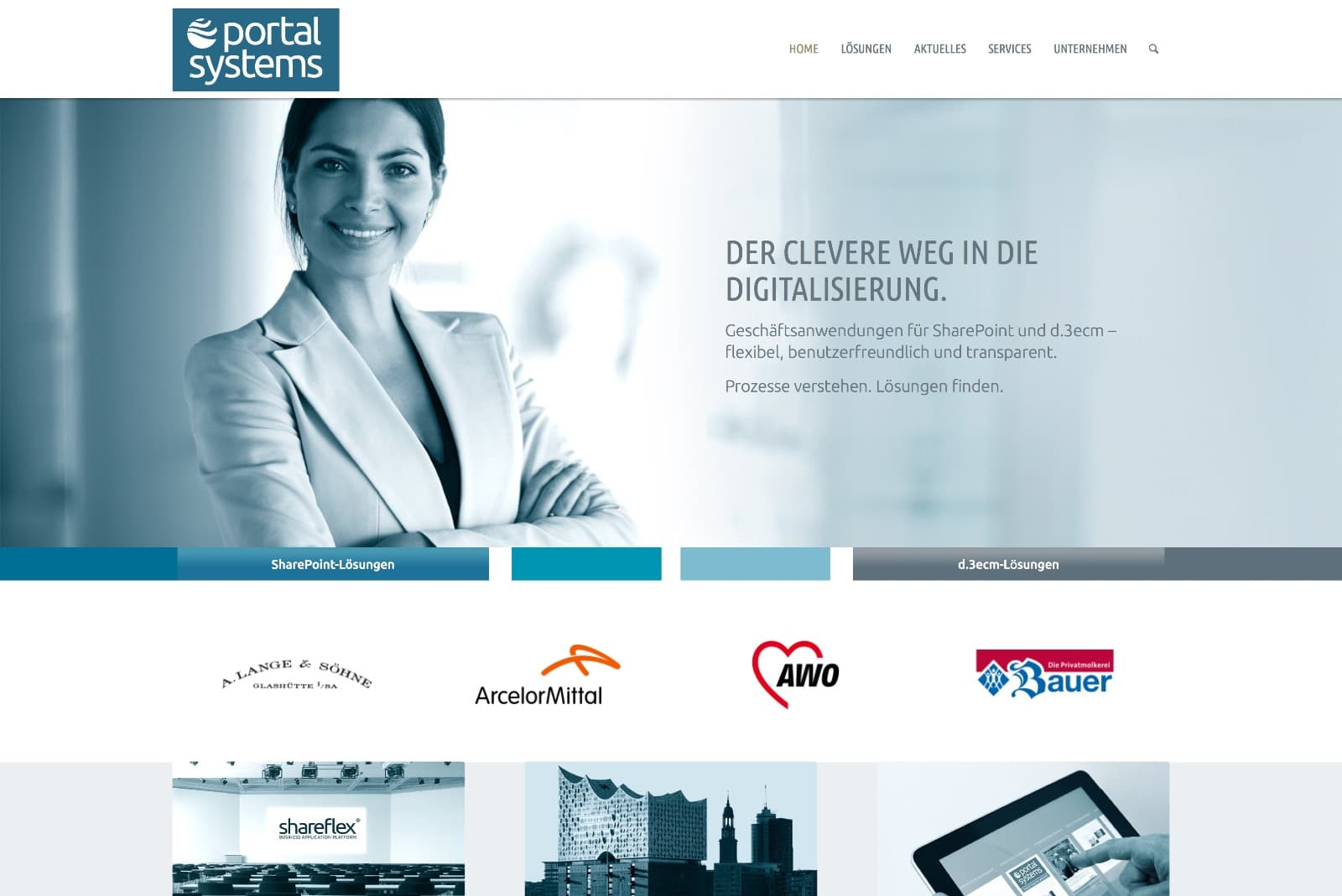 Startseite Portal System