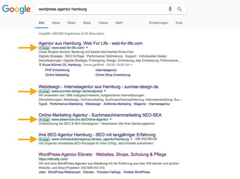 Anzeigen auf Google