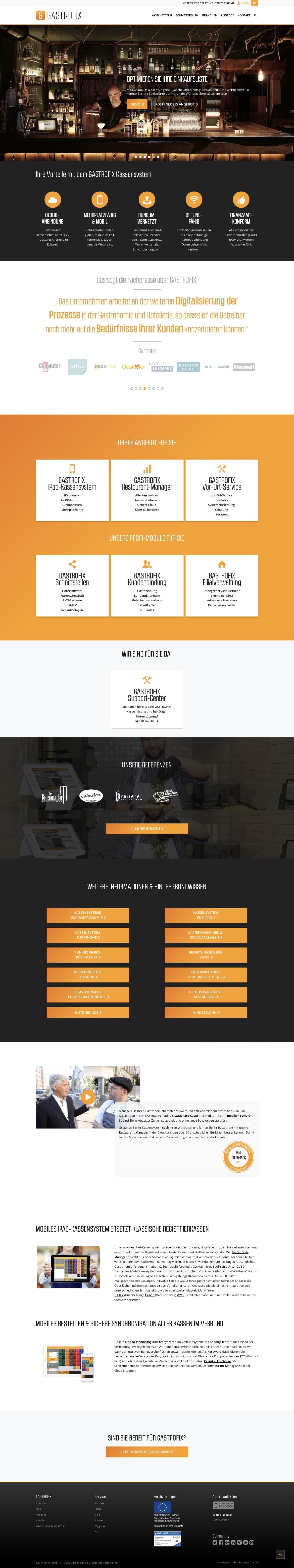 Gastrofix Website