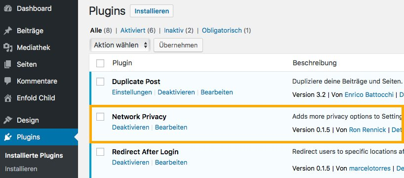 Network Privacy im Backend