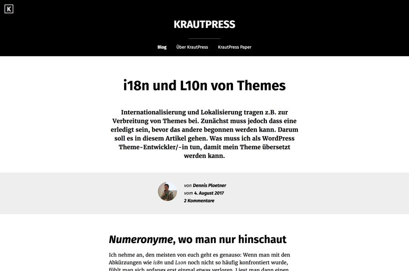 Krautpress - Blog