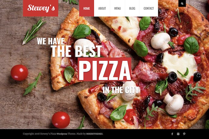 Steweys - Fast Food Pizza WordPress Theme