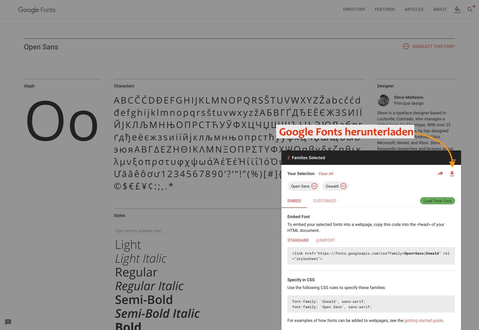 Google Fonts auf eigenem Webserver in WordPress einbinden