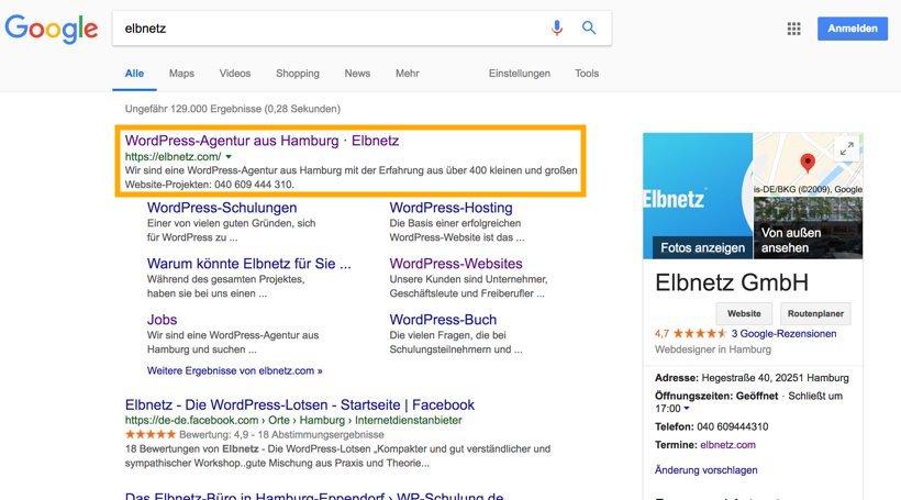 Elbnetz im Suchergebnis