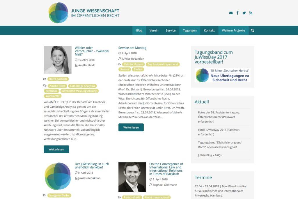 JuWissBlog Startseite