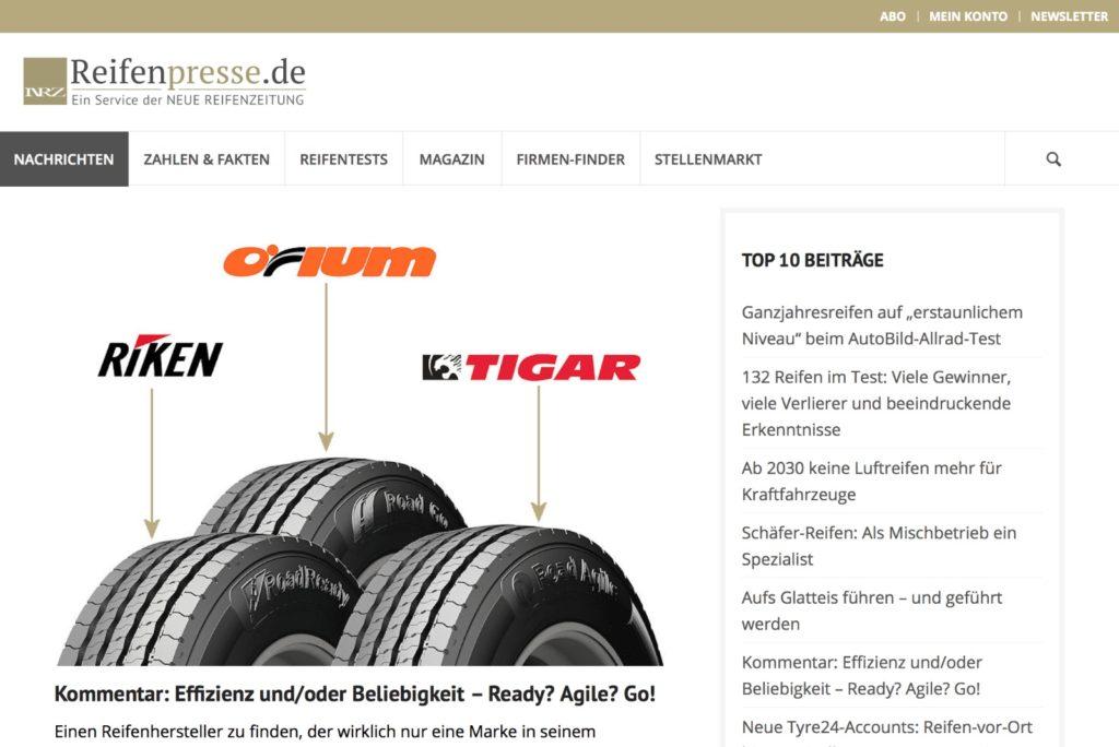 Startseite Reifenpress