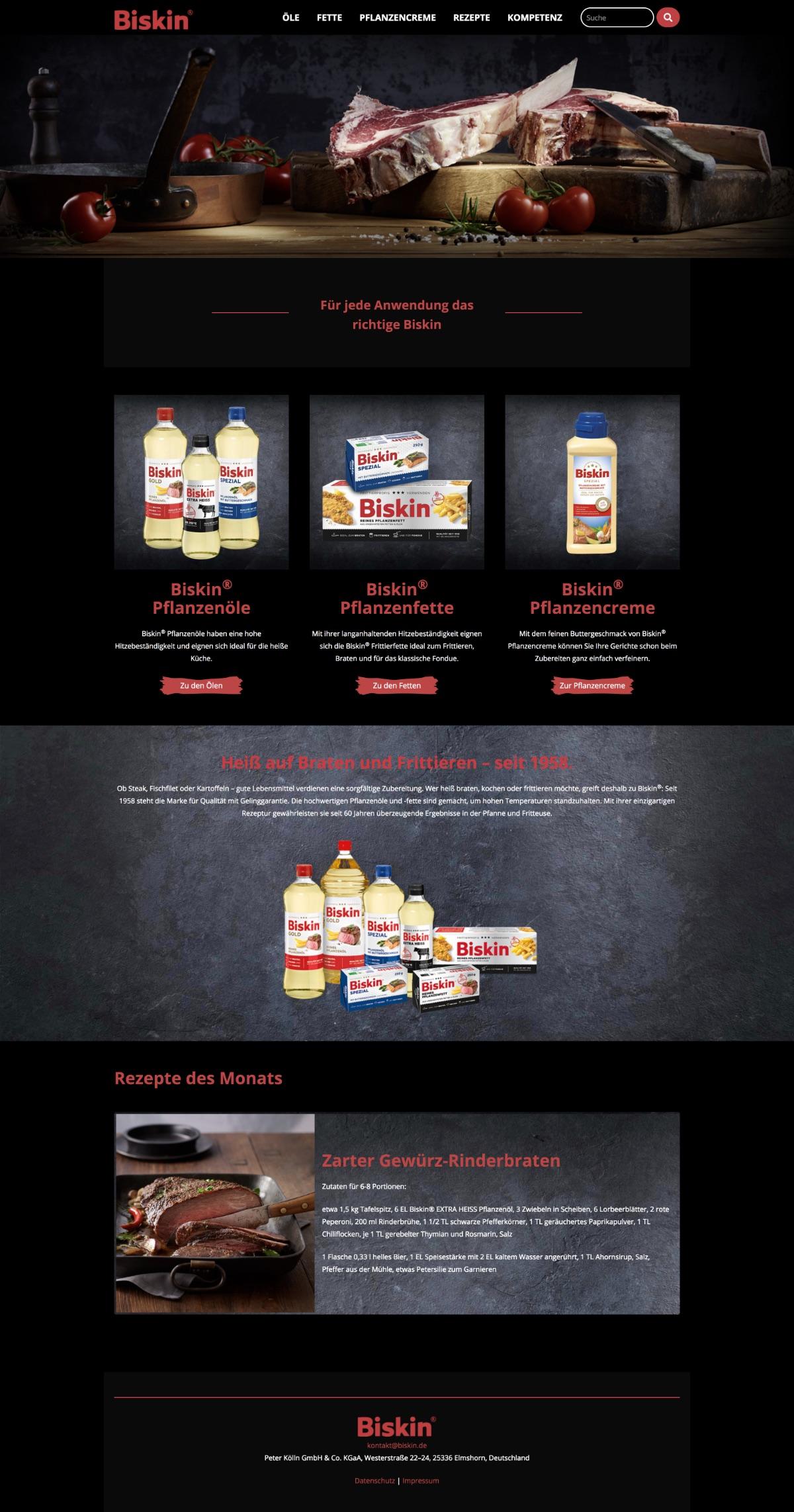 Biskin Website