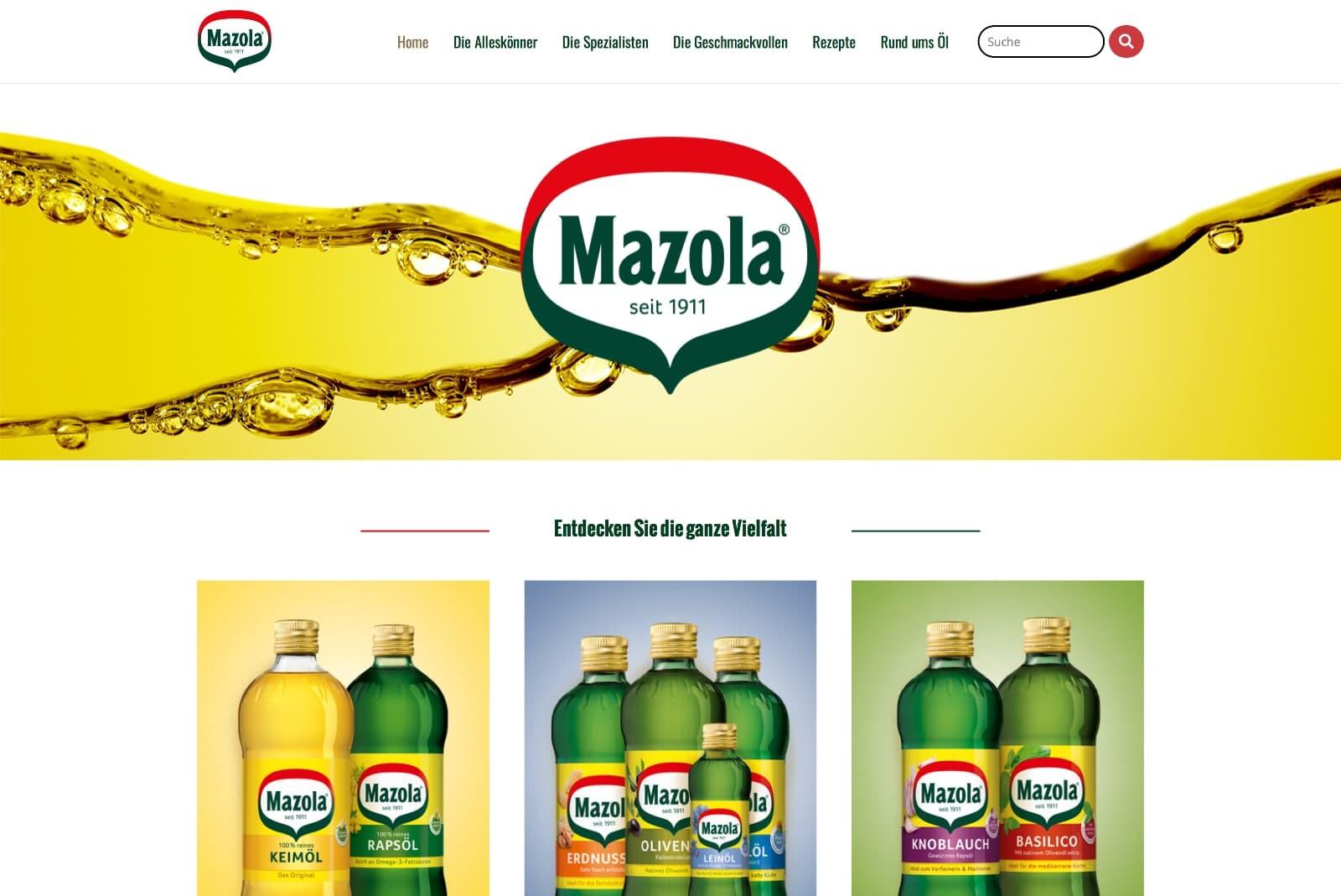 Mazola Startseite