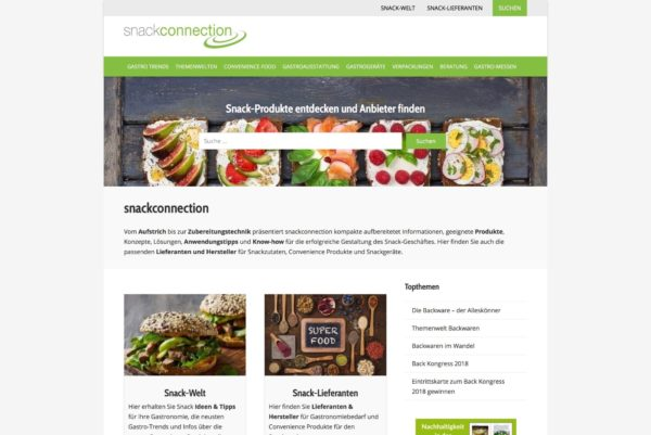 Snackconnection Startseite