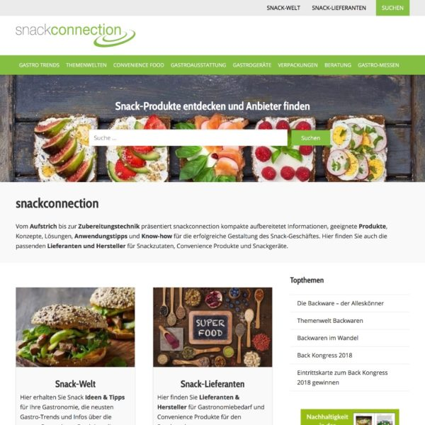 Snackconnection Startseite