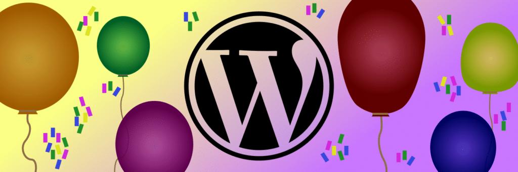 WordPress Geburtstag - 15 Jahre