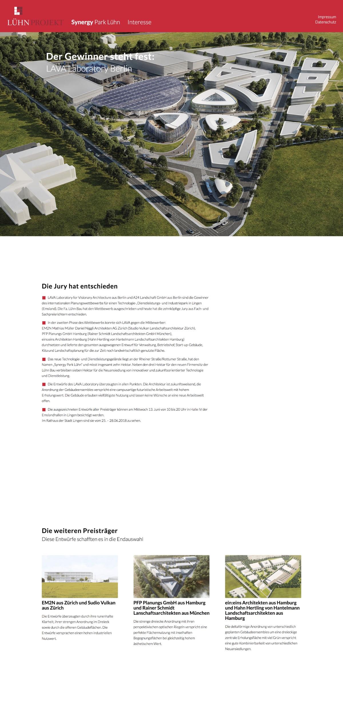 LühnProjekt Website