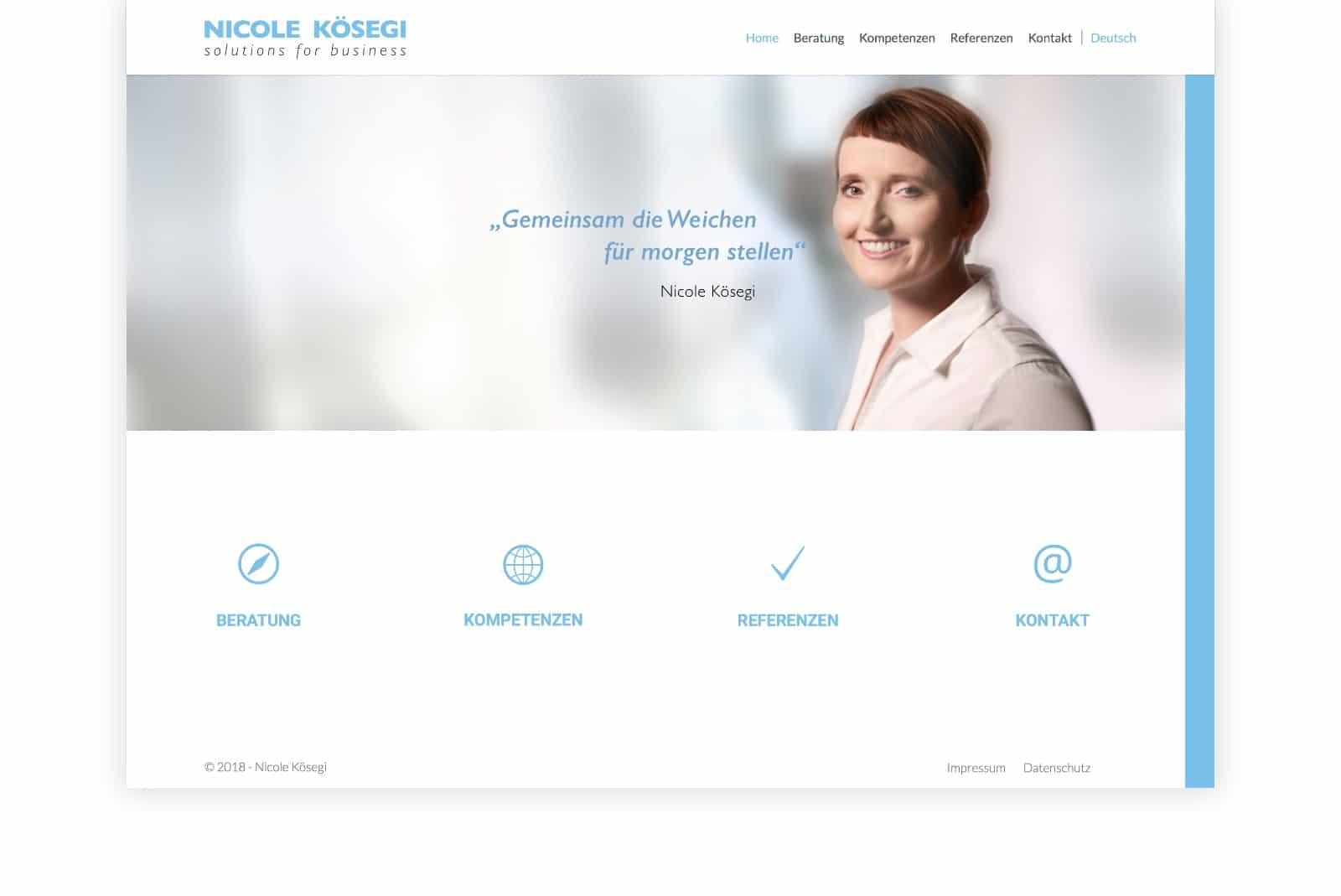 Website Nicole Kösegi