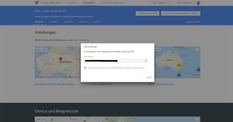 API-Zugangsdaten festlegen