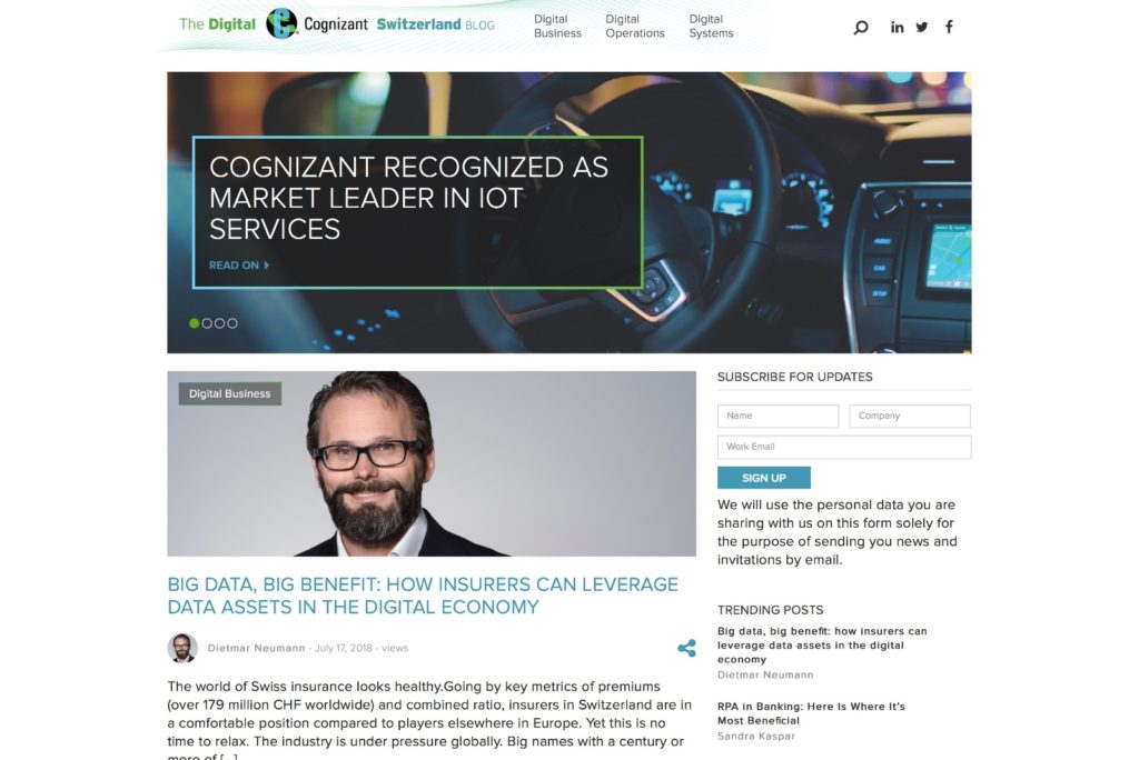 Digital Cognizant Startseite