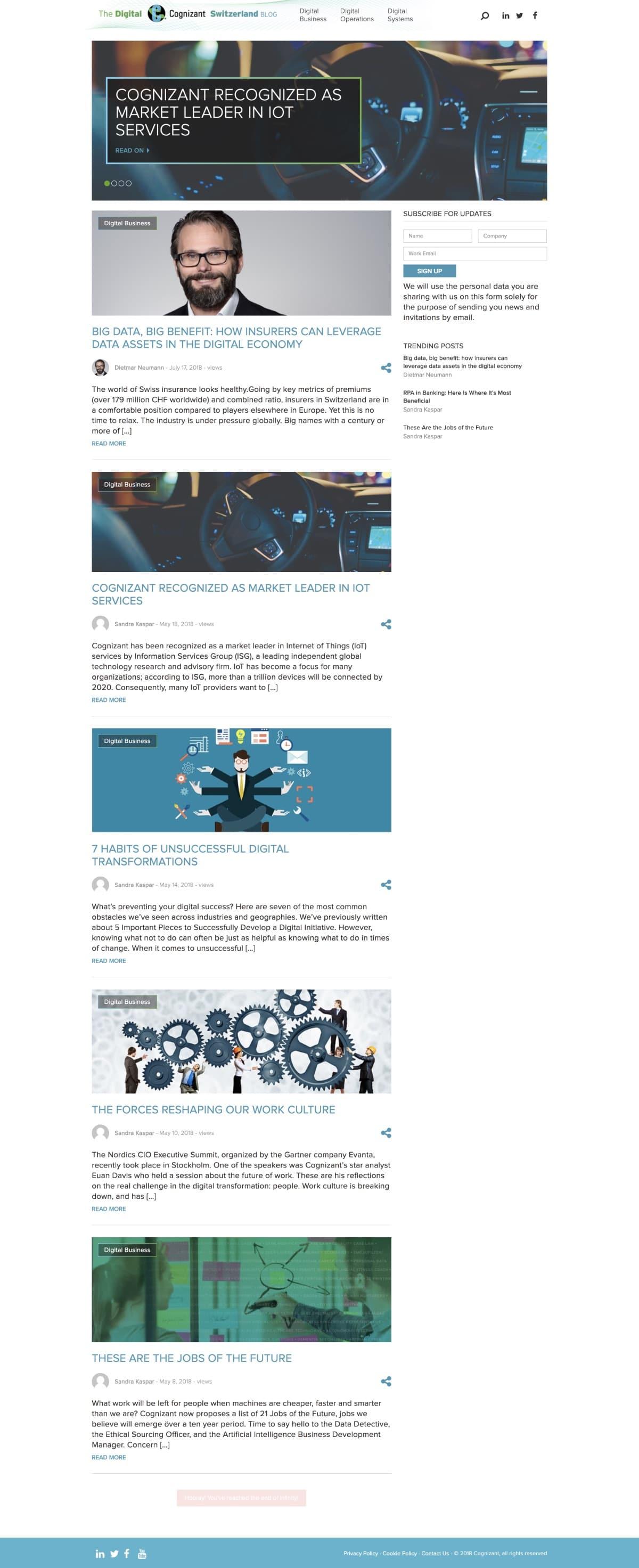 The Digital Cognizant Switzerland Blog