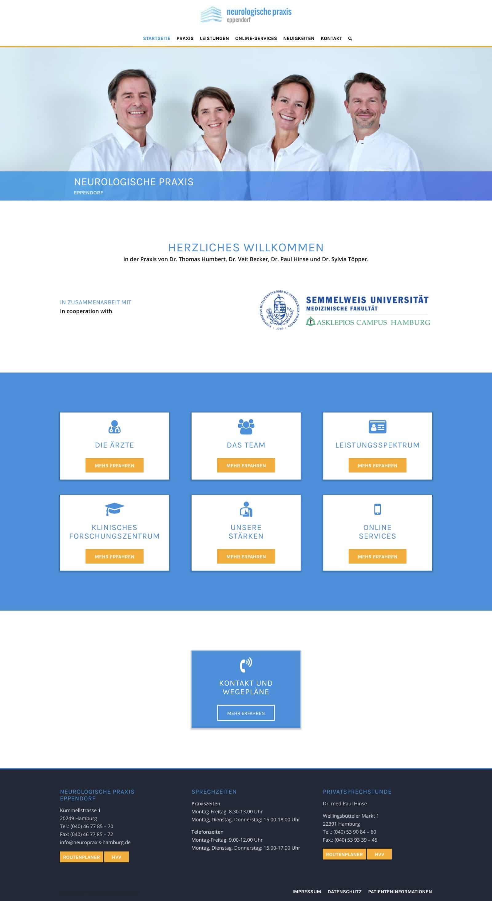 Neurologische Praxis Eppendorf Website