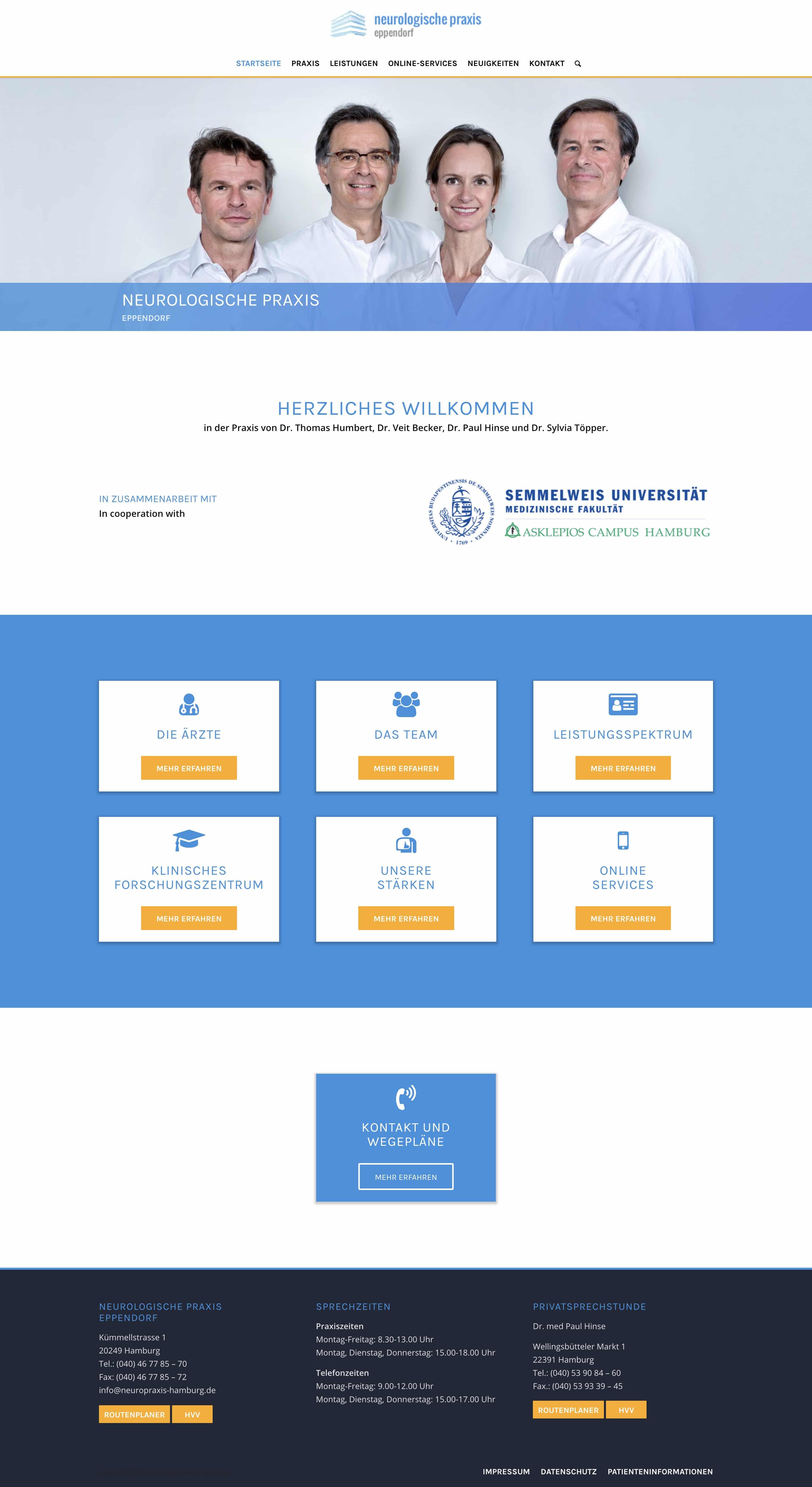 Neurologische Praxis Website