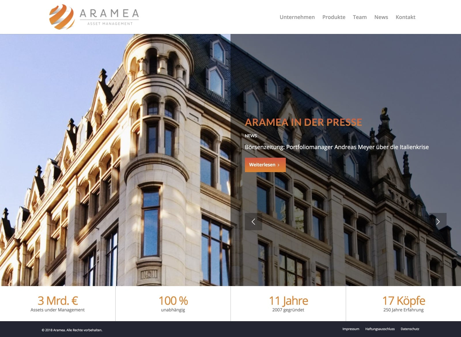 Aramea Website