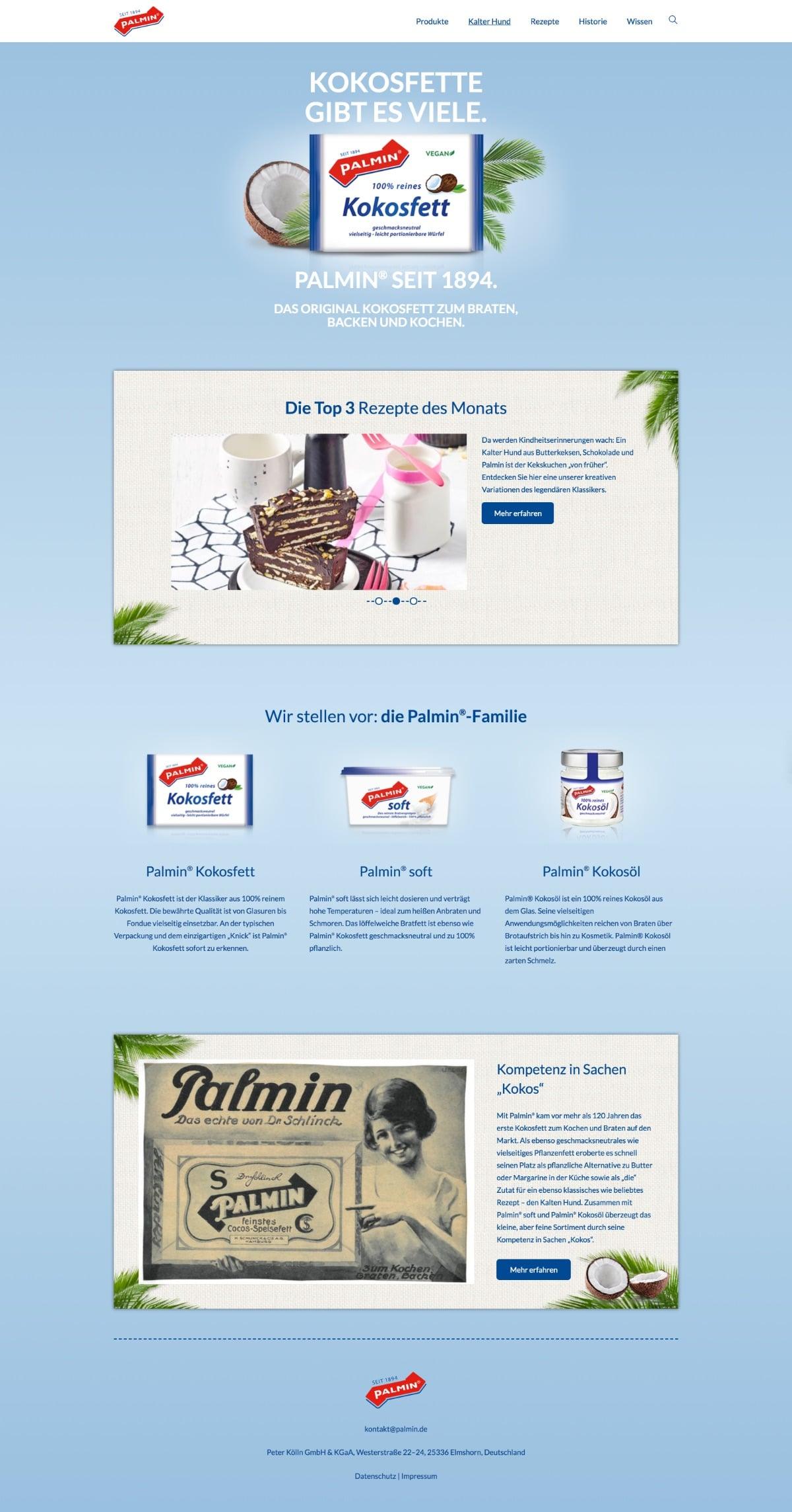 Website Palmin.de