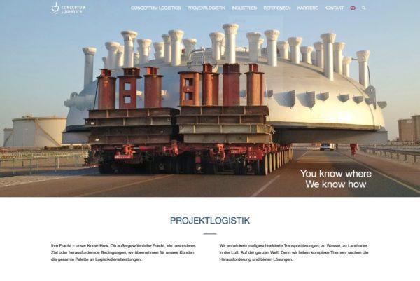 Conceptum Logistics Startseite